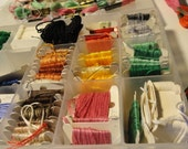 Embroidery floss, Embroidery kit, crewel embroidery supplies, embroidery supplies, art supplies