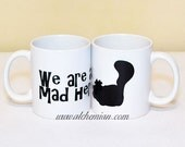 We're All Mad Here - Cheshire Cat Silhouette, Alice,mug