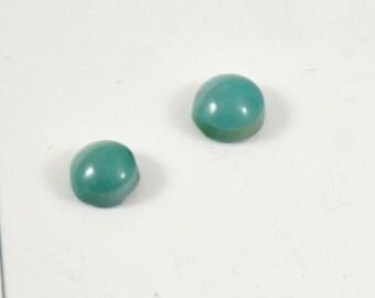 6mm 2PCS Circle Old Turquoise Beads Natural Turquoise Flat Gemstone Beads