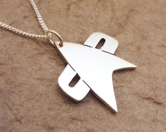 Trek V Sterling Silver Pendant on Chain
