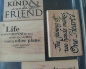 Stampin' Up! Friendship Wooden Stamps