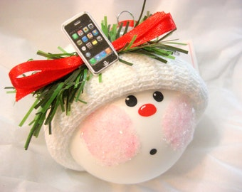 Cell Phone Ornament Christmas Townsend Custom Gifts