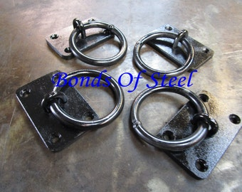 Four Wall Mounted Rings BDSM Bonds of Steel Mature