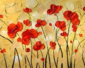 ORIGINAL Painting Oil Palette Knife Colorful Red Abstract painting contemporary art painting decorpro impasto Textured  ART by Marchella