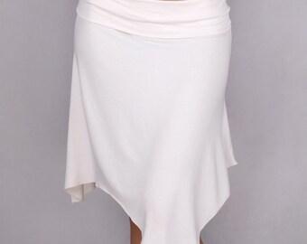 Muriele Overskirt in Rayon Lycra OFF WHITE - Dance wear, Yoga wear, Active wear, Casual wear