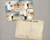 "Rustic wedding thank you cards photo Postcard - the ""Denise 2"", 5x7"