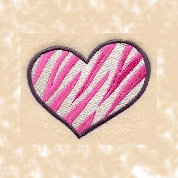 Zebra Tea Towels: Zebra Print Heart Tea Towel Machine By Charlenesembroidery