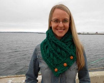 Fisherman's wife Crochet Cowl by kams-store.com