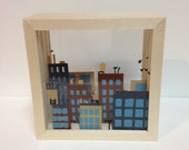 City Skyline Shadow Box (small)
