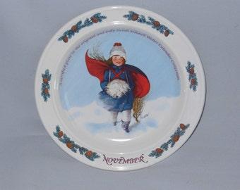 Plate Sarah Stilwell Weber  November Porcelain 1985