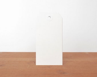 white shipping tags: gift tags, labels, hang tags, clothing tags, mail tags set of 10