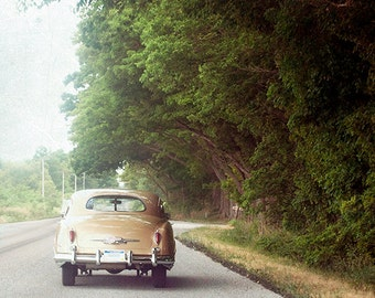 Fine Art Photo, Classic Retro Car, Summer, Road Trip, Wall Art, Vintage Look Photography print