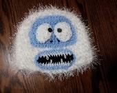 Bumble Hat- snowman, adominable snowman, fuzzy hat