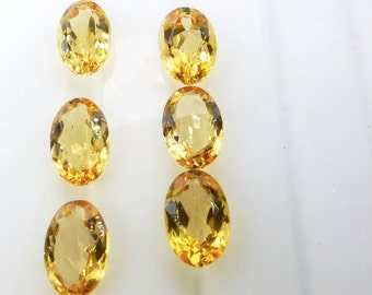 IMPERIAL / PRECIOUS ToPAZ. Natural. Native Cut. Oval Shape. Can be DRiLled. 1 pc. 1.06cts. 4x6 mm  (Bt388)