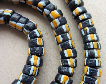 African Glass Disk Beads