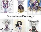 Commission Drawing - Custom Artwork - Original Illustrations
