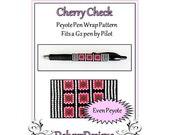 Bead Pattern Peyote(Pen Wrap/Cover)-Cherry Check