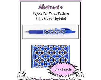 Bead Pattern Peyote(Pen Wrap/Cover)-Abstract 2