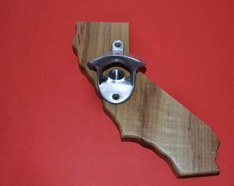 California State shape wall mounted Bottle opener