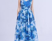Dress on sale Blue bridesmaid dress Blue prom dress Blue wedding dress Open back dress Blue midi dress Blue tea length dress Brocade dress