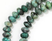"African ""Turquoise"" Jasper Beads - 6mm Rondelle"