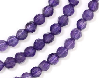 Amethyst Beads - 4mm Faceted Round
