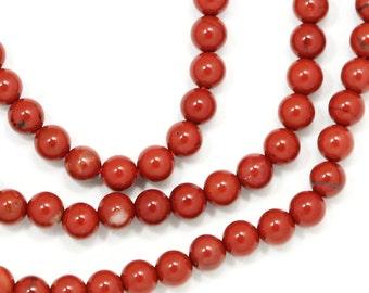 Red Jasper Beads - 3mm Round