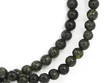 Russian Serpentine (Darker) Beads - 4mm Round