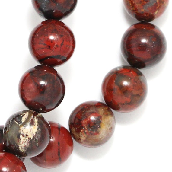 Brecciated Jasper Beads - 10mm Round