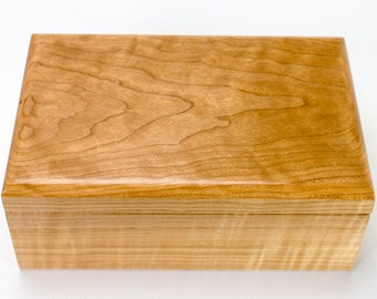 Keepsake Box in Tiger Maple and Curly Black Cherry - 1130
