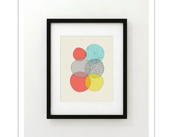 ELEMENTS no.22 - Giclee Print - Mid Century Modern Abstract Modern