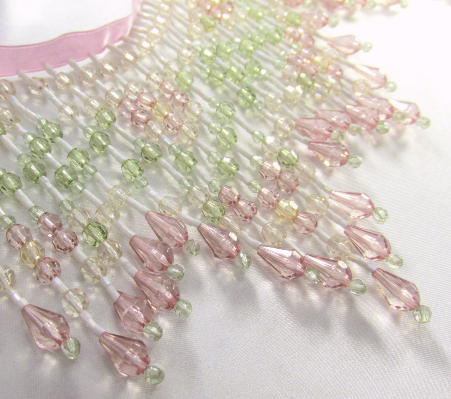 Vintage Pink Light Sage Green Pale Gold And White