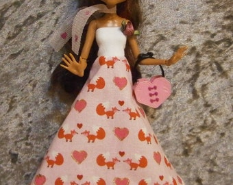 Foxy dress and headband for Monster and Ever after dolls