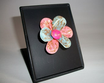 My RePurposed UpCycled Magnets From 1960s Flower Power Brooch Pins 40