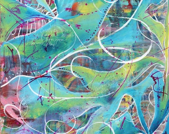 Be Creative print of acrylic painting