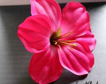 Large Hibiscus Hair Flower Clip -Wedding / Pinup / Rockabilly Hair Accessory
