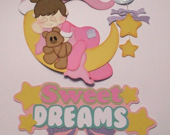 Sweet Dreams (girl) - paper piecing for scrapbook page