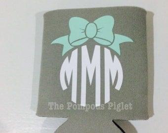 Monogram Bow Can Cozy
