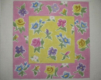 Floral Needlepoint Canvas*
