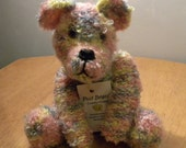 Hand Knitted Teddy for Collectors - Knitted Bear - 9 inches - Hand Knitted Bear
