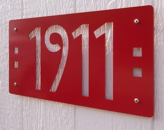 CUSTOM Mission Style House Numbers in Powder Coated Aluminum