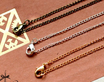 """10pcs 27.5""""/ 18"""" Long Silver / Golden / Bronze Finished Chain Necklace (CHAINSS-41.42.43)"""