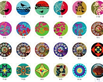 ALL NEW Design Glass Cabochon 12mm 20mm 25mm 30mm( 25mm Flat )Handmade Photo Glass Cabochon -Image Glass Cabochon-(HPP-G)  Part 1