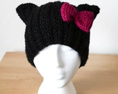 "PDF Knit Pattern _ ""Sparkle Cat Hat"""