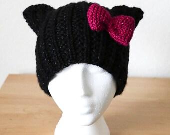"PDF Knit Pattern _ ""Sparkle Cat Hat"""