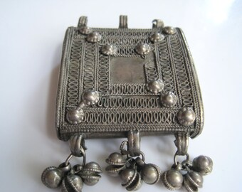 Vintage Silver Indian Pendant From Tibet or India
