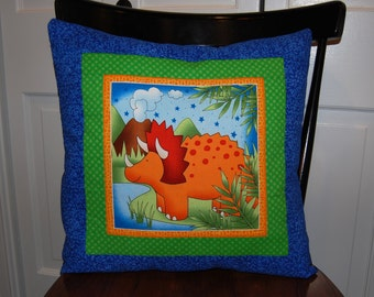 SALE, Dinosaur Pillow, Boys Bedding