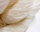Vintage Yarn, 3 Skeins Knitting Yarn, White Acrylic & Nylon Yarn, Crochet Thread, 3 ply Yarn, Knitting Supplies, Y131