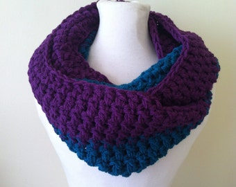 The Grape & Teal Infinity Scarf - Domestic Violence and Sexual Abuse Awareness