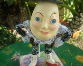 "Humpty Dumpty Art Doll inspired by the ""Alice in Wonderland""(""Puss in Boots"")movie, OOAK"